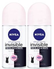 Nivea Roll-on Invisible for Black & White Clear 2 x 50 ml