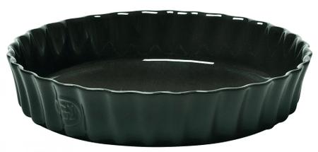 Emile Henry pekač za pito, 28 cm, črna