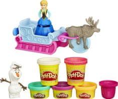 Play-Doh set s plastelinom Frozen: Pustolovščina na saneh