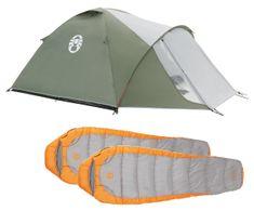 Coleman Zestaw namiot Crestline 3 + 2 śpiwory Telluride 100