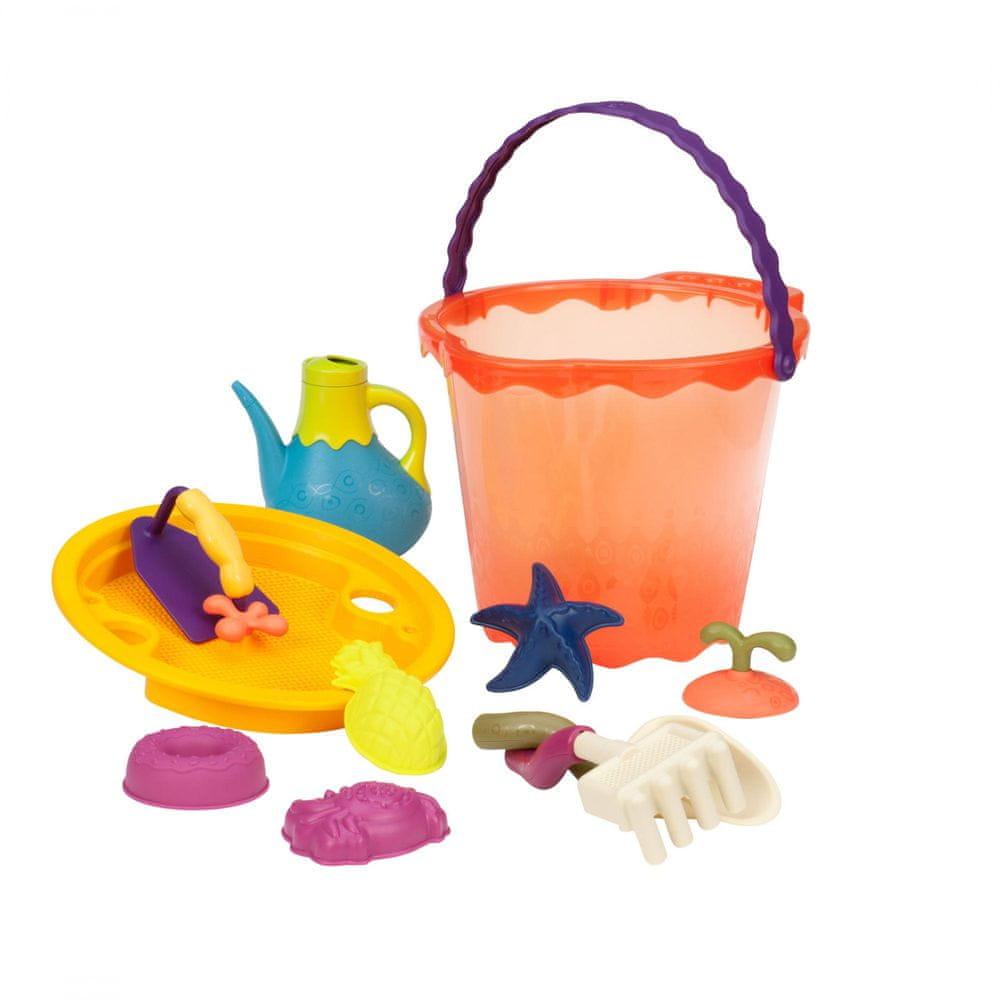 B.toys Velká sada hraček na písek v kyblíku 10 ks