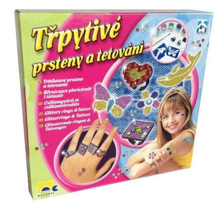 Mac Toys Csillámló tetoválás és gyűrű készlet
