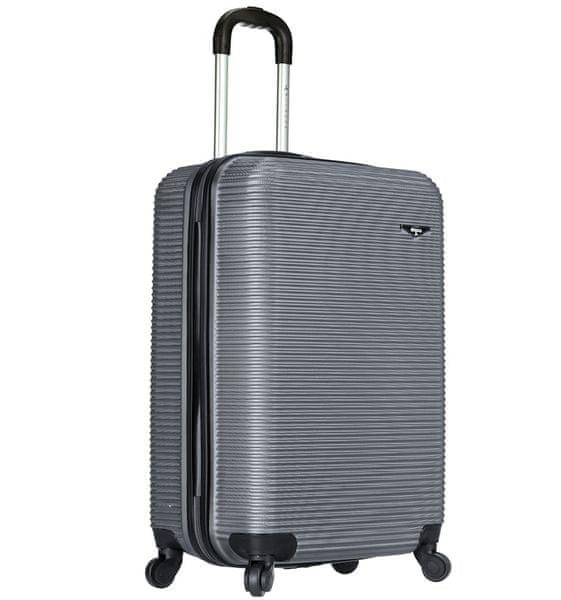 Sirocco Cestovní kufr 1039/3-50 ABS stříbrná
