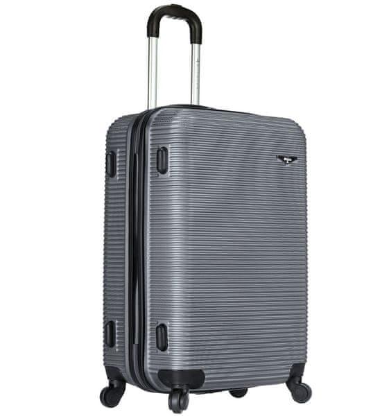 Sirocco Cestovní kufr T-1039/3-60 ABS stříbrná