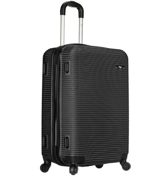 Sirocco Cestovní kufr T-1039/3-70 ABS černá