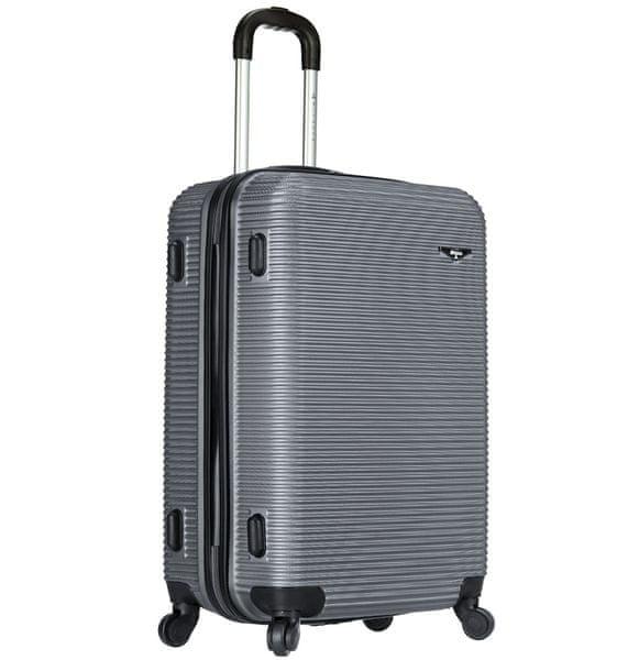 Sirocco Cestovní kufr T-1039/3-70 ABS stříbrná