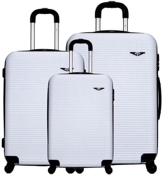 Sirocco Cestovní kufry sada T-1039/3 ABS bílá