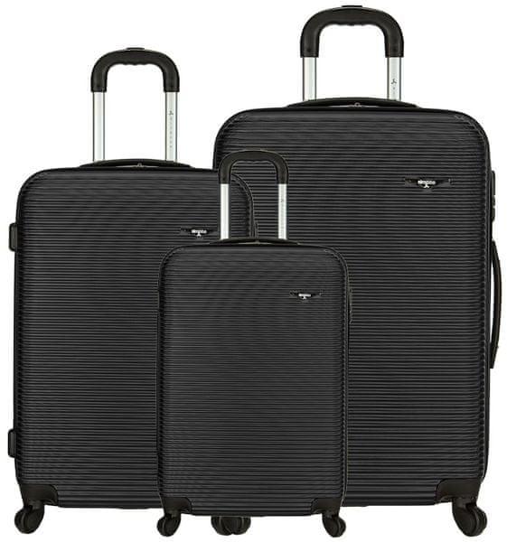 Sirocco Cestovní kufry sada T-1039/3 ABS černá