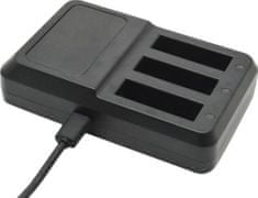 Apei Outdoor USB 3x Battery Charger pro GoPro 4