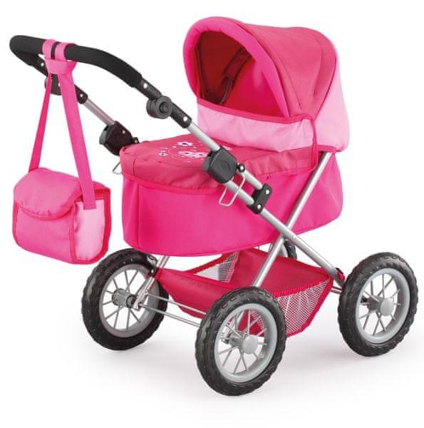 Bayer Design Trendy kočárek pro panenky, růžová