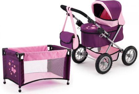 Bayer Design voziček za lutke Trendy + posteljica