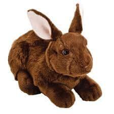 Suki zajček, temno rjav, 30 cm