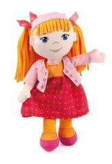 Bayer Design punčka iz cunj v rdeči oblekici, 30 cm