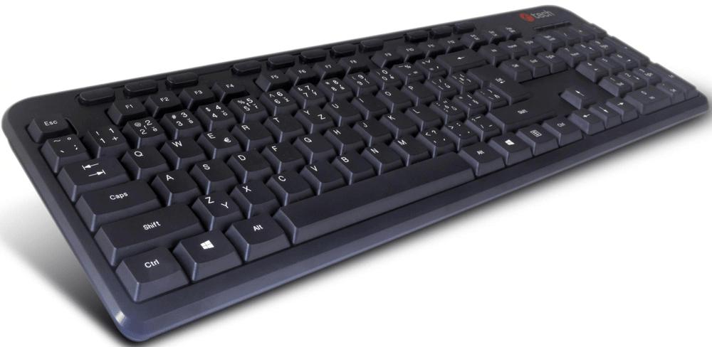 C-Tech KB-102M USB slim black multimediální, CZ/SK