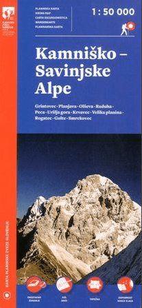 Kamniško - Savinjske Alpe 1 : 50.000 (plastificirano)