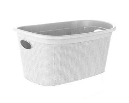 Stefanplast Koš na čisté prádlo 35L bílá