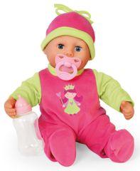 Bayer Design dojenček First Words Baby, 38cm, roza/zelena