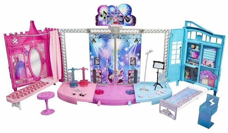 Mattel Barbie 2v1 pódium a zákulisí