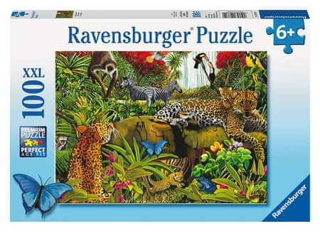 Ravensburger Puzzle Dzika dżungla XXL 100 el.