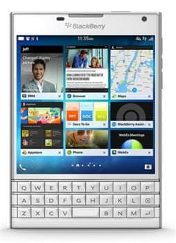 BlackBerry Passport QWERTY, bílá