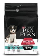 Purina Pro Plan Hrana za mladiče srednjih pasem z občutljivo prebavo 3kg