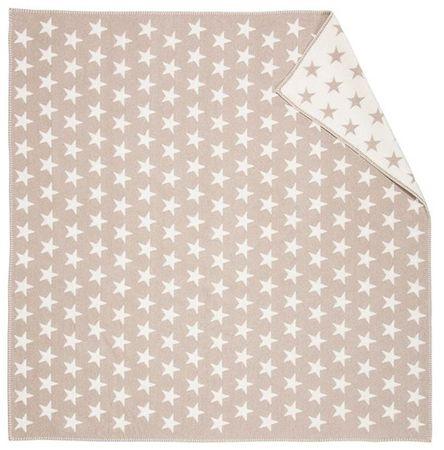 David Fussenegger FINN takaró, 130 x 130 cm, Csillag mintás