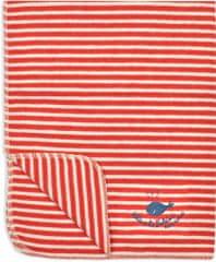 David Fussenegger Deka JUWEL 70×90 cm výšivka Proužek červená