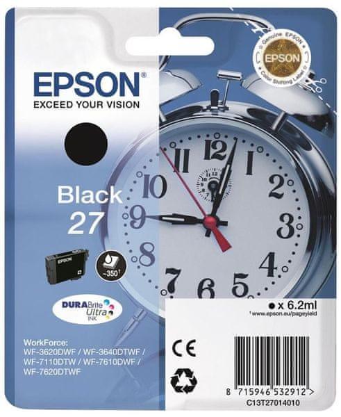 Epson Singlepack Black 27 DURABrite Ultra Ink (C13T27014010)