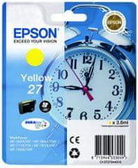 Epson Singlepack Yellow 27 DURABrite Ultra Ink (C13T27044010)