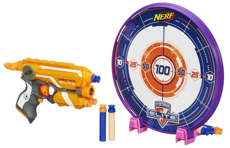 Nerf ELITE Precision pistole s laserovým zaměřováním a terčem