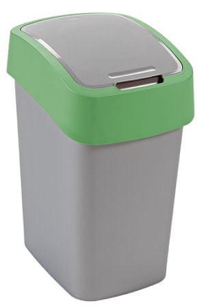 Curver Koš za smeti Pacific Flip bin 25 l, zeleno-srebrn
