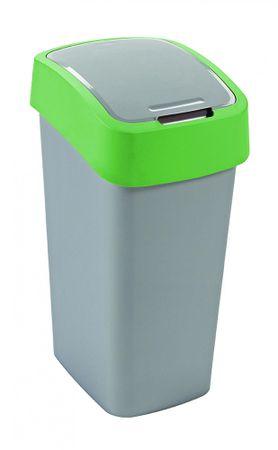 Curver Koš za smeti Pacific Flip bin 50 l, zeleno-srebrn - odprta embalaža