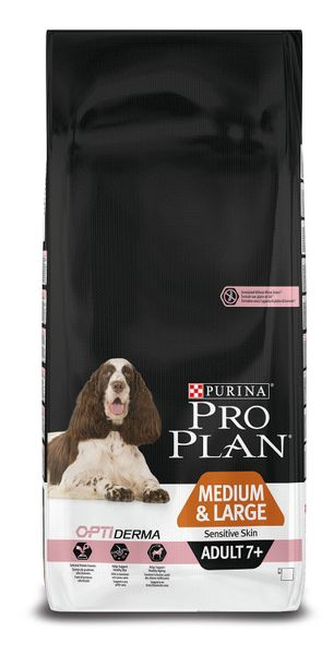 Purina Pro Plan Medium & Large Adult 7+ Sensitive Skin 14kg