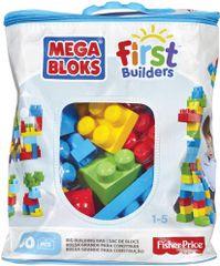 MEGA BLOKS Kostky v plastovém pytli kluci, 60 kostek