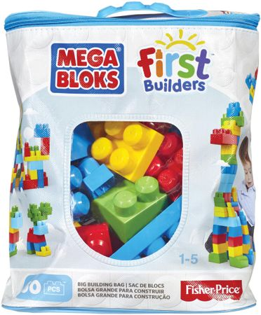 MEGA BLOKS Mega - Kocky v plastovom vreci, 60 dielov
