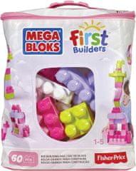 MEGA BLOKS Kostky v plastovém pytli holky, 60 kostek