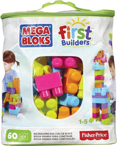 MEGA BLOKS Kostky v plastovém pytli, 60 kostek