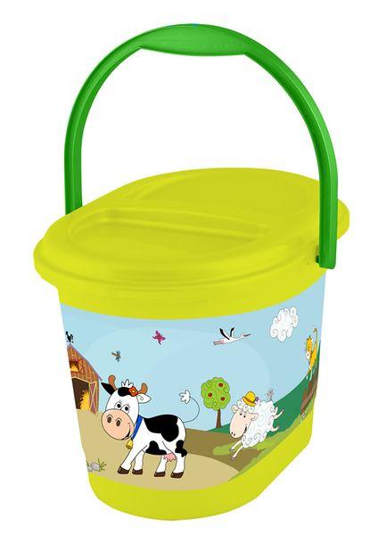 OKT Koš na pleny Funny Farm, zelená