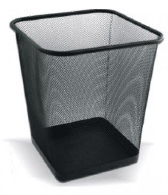 Net Koš za smeti LD01-128 kvadraten, črn