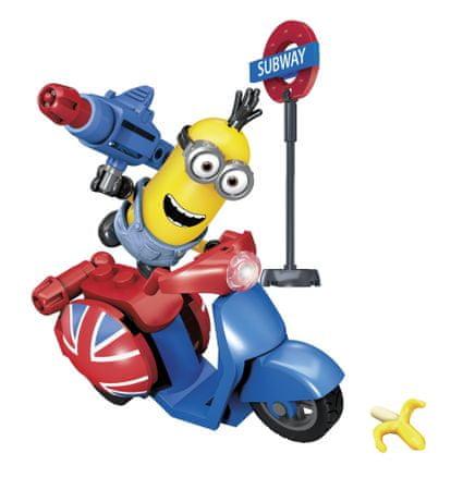MEGA BLOKS Minions Kevin in skuter