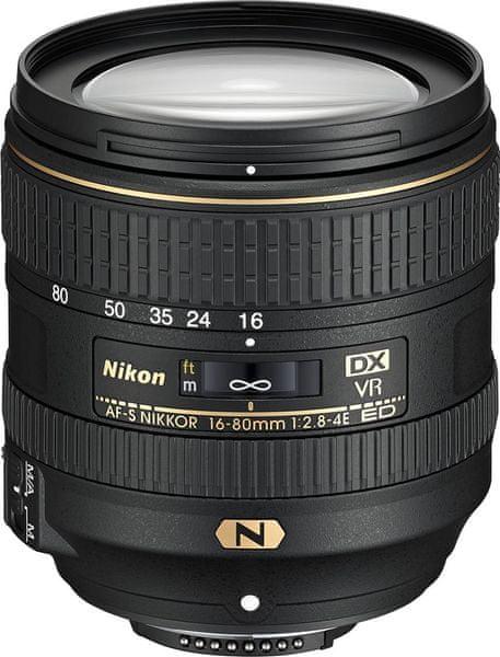 Nikon Nikkor AF-S 16-80 mm f/2,8-4E ED VR + 2700 Kč od Nikonu zpět!