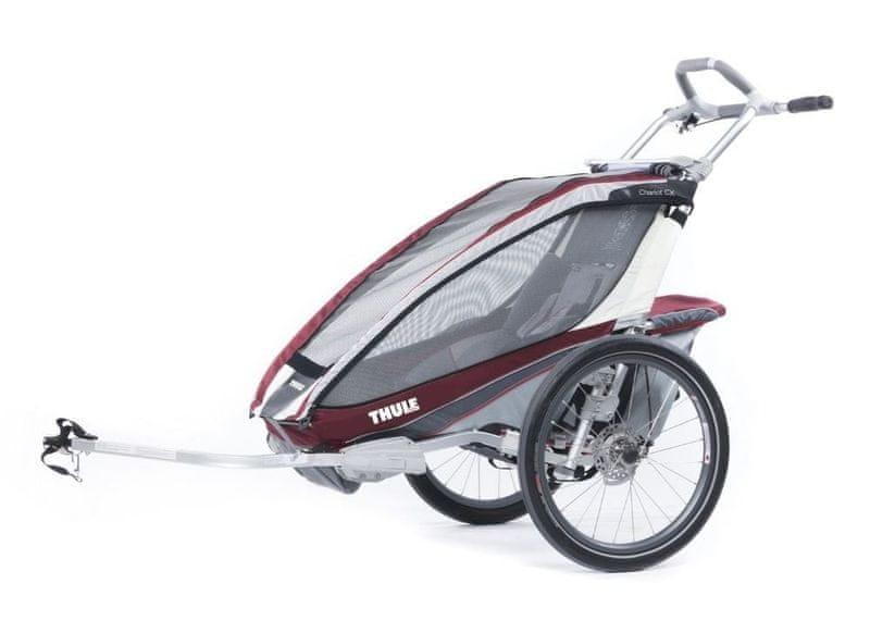 Thule Chariot CX 1 Burgundy Disc + Bike