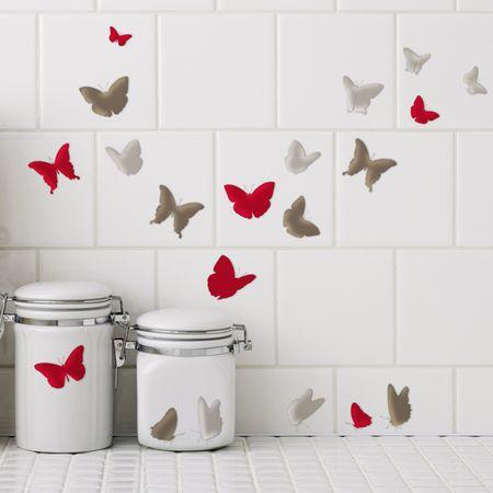 Crearreda dekorativna nalepka za ploščice, elegantni metulji