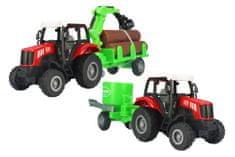 GearBox traktory z przyczepami do drewna oraz rozsiewaczem