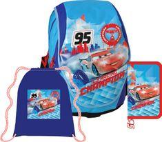Sun Ce Anatomický školní batoh ABB set Disney Auta