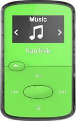 SanDisk mp3 predvajalnik SanMM 8GB, zelen