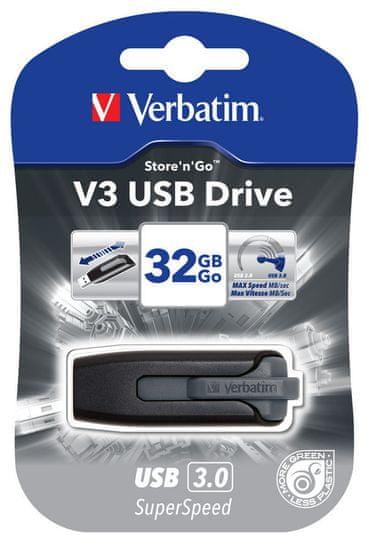 Verbatim Prijenosni USB stick Store'N'Go V3 32 GB, crni (49173)