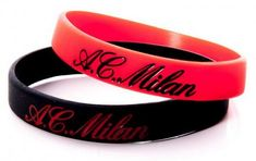 AC Milan komplet silikonskih zapestnic, 2 kosa