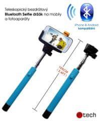 C-Tech selfie držák C-TECH pro mobil, modrý