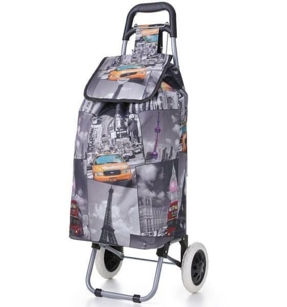 REAbags Nákupní taška na kolečkách HOPPA ST-325 - šedá